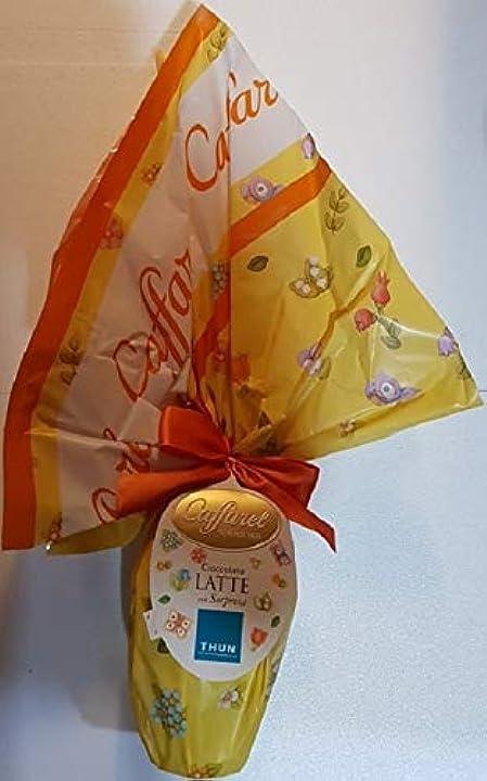 Uovo di pasqua caffarel cioccolato al latte + sorpresa thun 230 gr senza glutine B07NYF6KL3