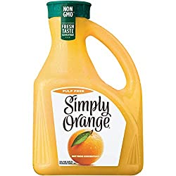 Simply Orange Juice, 89 fl oz, 100% Juice Not from Concentrate, Pulp Free