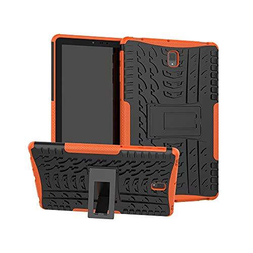 Tablets Duras Cubierta de Tableta para Samsung Galaxy Tab S4 10.5 Pulgadas T830 / T835 Textura de neumáticos TPU + PC Funda Protectora con Soporte de Mango Plegable Tablets Fundas (Color : Orange)