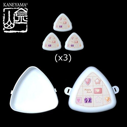 "Kaneyama Triangular ""Onigiri"" Rice Balls Cases (Lunch Boxes 3 ct)"