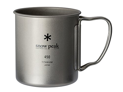snow peak MG-143 Titanium Single Mug 450 (Capacity 15.2 fl oz (450 ml))