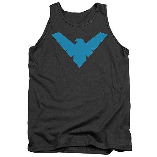 Batman Das Nachthemd-Trägershirt der Männer, Small, Charcoal