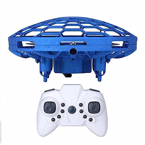 Pkfinrd Mini Sensor OVNI Control Remoto CONTONE Drone para NIÑOS DE Juguete DE Juguetes DE NIÑOS Sensor DE GESTROS SMARTOS DE GESTRIO UFO Control Remoto OVNI AVIONACIONES (Color : Blue)