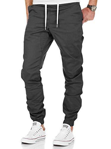 AitosuLa Herren Jogginghose Baumwolle Freizeithose Sport Slim Fit Trainingshose Sweatpants Jogger Pant (Grau, Large)