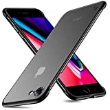 MSVII Frameless Case for iPhone 7 iPhone 8 Ultra Slim Translucent Matte Finish with TPU Protective Bumper Cover Case for iPhone 7 iPhone 8 4.7 inch Black