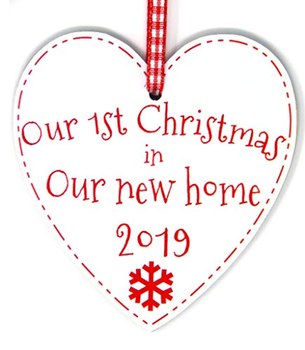 Our First Christmas in Our New Home Heart Bauble - 1st...