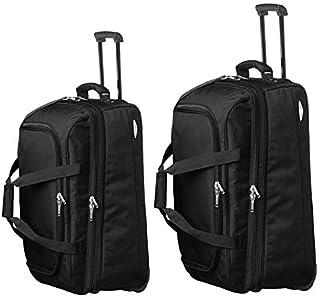 Pierre Cardin - 2055/56 Set of 2 Soft Trolley Bags On Wheels - Black