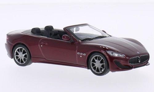 Maserati Grancabrio Sport, dunkelrot, 2013, Modellauto, Fertigmodell, WhiteBox 1:43