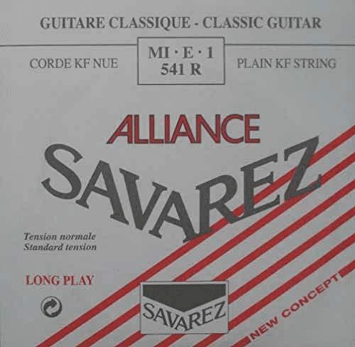 Savarez Cuerdas para Guitarra Clásica Alliance HT Classic 541R cuerda suelta Mi1 Carbon standard, adecuado para juego 540R, 540ARJ, 540RH, 500AR, 500ARJ, 510AR, 510ARJ