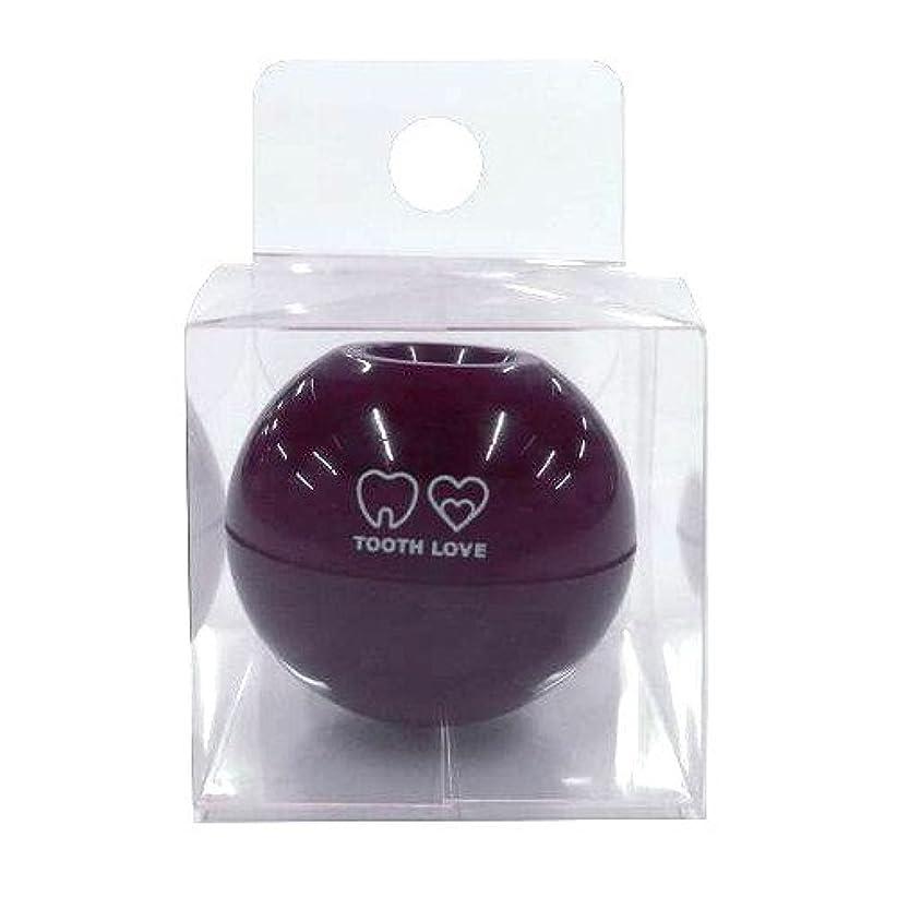 瞑想するタンカー痛みTOOTH LOVE BALL ホルダー (歯間ブラシホルダー) ブラウン