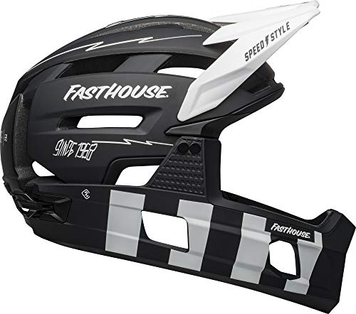 Bell Super Air R MIPS Adult Mountain Bike Helmet - Fasthouse Matte Black/White (2021), Large (58-62 cm)