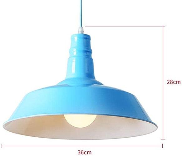Luminaire Suspendu de Style rétro en métal Blanc Brillant de Style rétro,bleu,A