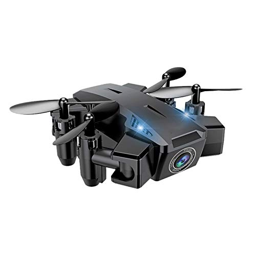 Mini Foldable RC Drone with Camera for Kids, Hd Altitude Hold Headless Mode One Key Return Gravity Sensor Control, Beginner Adult Quadcopter Toy Airplane GIF,Black