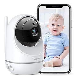 WLAN Kamera Indoor, Victure Dualband 2.4Ghz und 5Ghz 1080P Überwachungskamera WLAN, Babyphone mit Kamera, Pan Tilt, 2-Wege-Audio, IR Nachtsicht-Weiß