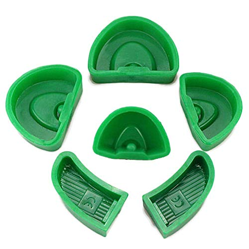 Aprodite 6 stks Dental Lab Silicone Pleister Model Voormalig Basisvormen Vorm S+M+L Grootte Lade Groen