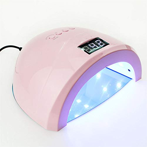 QWER Uñas secador del Clavo de la máquina de fototerapia de uñas de Arte de uñas máquina Inteligente Gel Herramientas de Cuidado de uñas Ultravioleta fototerapia Máquina,Rosado