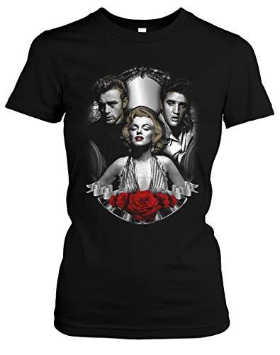 Vintage Legends Damen T-Shirt   Marylin Monroe James Dean Elvis Presley Girlie (M)