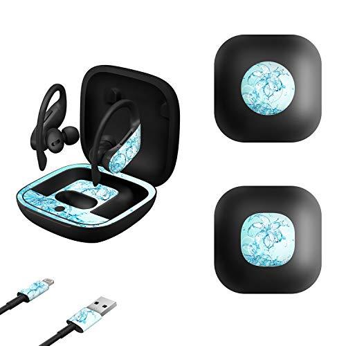 MasiBloom Aufkleber für kabellose Kopfhörer, für Powerbeats Pro 2019, ultradünn, präzise geschnitten, Vinyl-Schutzhaut
