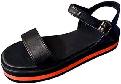 Summer Sandals Flat Bottom Women Platform Sandals Muffin Sandals Wedge Sandals Red product image