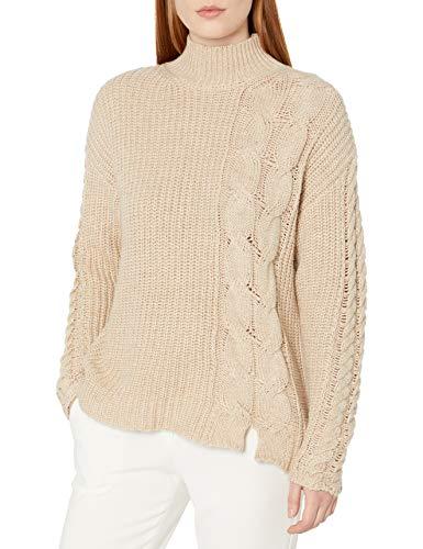 Calvin Klein Suéter con detalle de cable para mujer