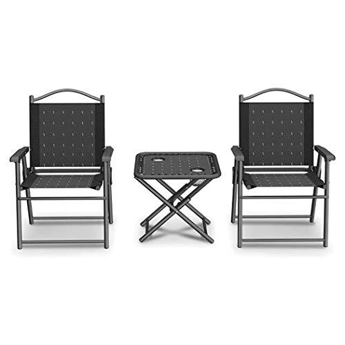 Tumbona Gravedad Cero Silla Reclinable Tumbona plegable y un conjunto de sillas, Descanso for comer silla, sillón reclinable multifuncional for el hogar for adultos, viajes de pesca silla del ocio al