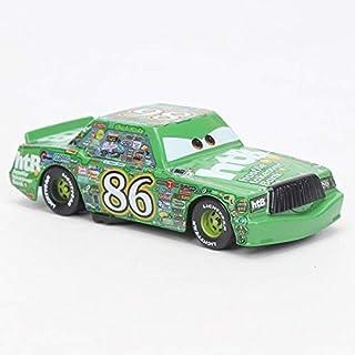 Desconocido Disney Disney Pixar Cars 3 Toy Lightning Mcqueen Mater Storm Jackson Ramirez 1:55 Diecast Metal Alloy Model Car Toys Gift for Boys NO 86 Green