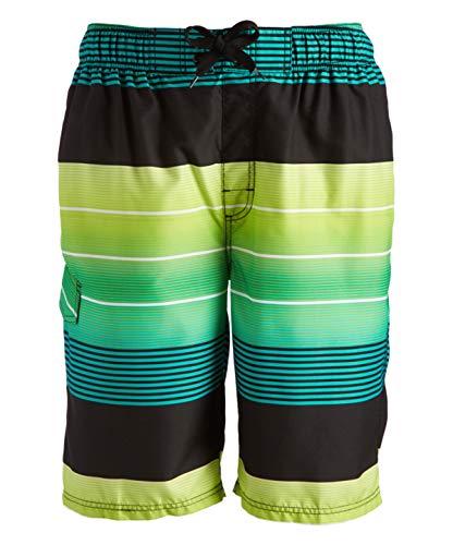 Kanu Surf Echelon - Bañador para Hombre (Talla Regular y extendida), Echelon Negro/Verde, X-Large