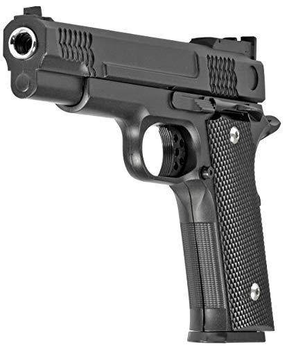 Evil Wear Softair Gun Set Airsoft Vollmetall Federdruck Pistole 19cm Inkl Magazin 0,5 Joule Gürtel