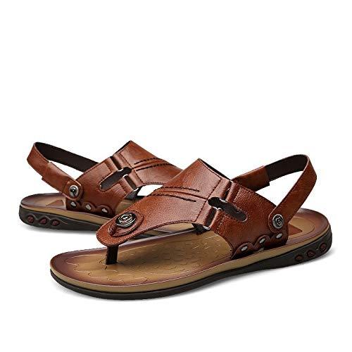 Sandalias de hombre antideslizantes de verano para hombre, sandalias de senderismo impermeables, atléticas, deportivas, al aire libre, zapatos casuales, 2 colores, pu, azul, 46