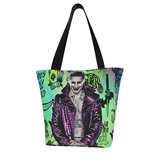 Joker Clown Women Totes Carry Bags Big Capacity Shoulder Handbags Messenger Backpacks Portable Webbing is Strong and Durable
