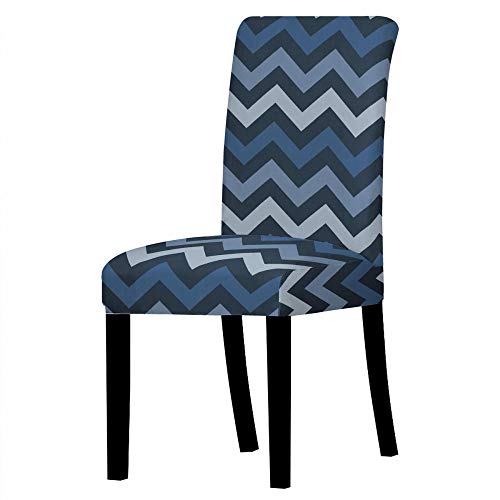 Dining Chair Covers Blue Gradient Wave Chair Covers Room Stretch Chair Covers Kitchen Chair Cover Cushion Easy Chair Cover, 2-Pack Spandex Dining Chair Slipcovers