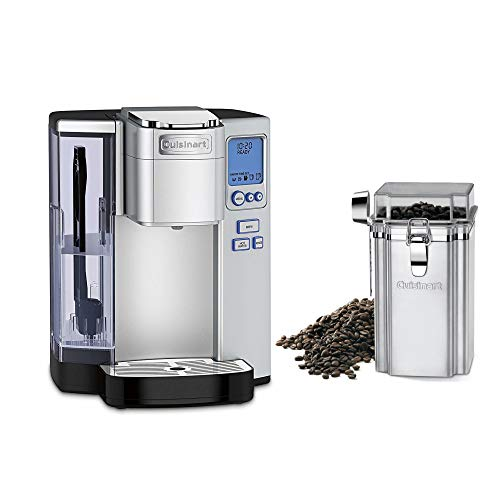 Cuisinart SS-10 Premium Single-Serve Coffeemaker (Silver) Bundle with Cuisinart Coffee Canister (2 Items)