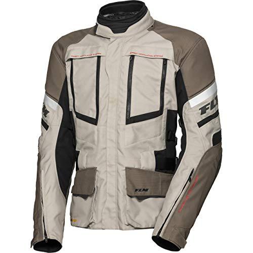 FLM Motorradjacke mit Protektoren Motorrad Jacke Reise Textiljacke 2.0 braun/Sand 3XL, Herren, Enduro/Reiseenduro, Ganzjährig