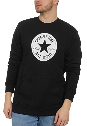 Converse Herren Sweater Chuck Patch Graphic Crew 10005825 001 Black, Größe:S