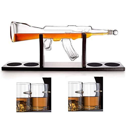 YLLYI AK-47 Gun Contenedor De Vino De Vidrio con Forma De Whisky...