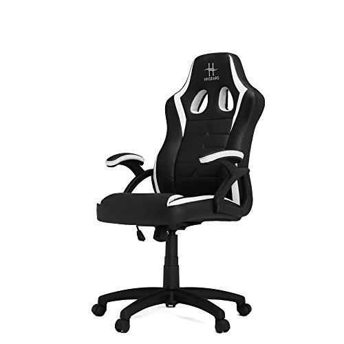 HHGears SM-115 Gaming Chair Black/White chair gaming HHGears