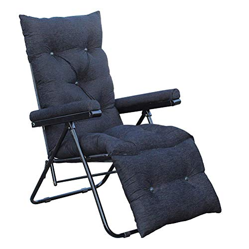 Spacecrafts Recliner Folding Easy Chair (Full, Black)