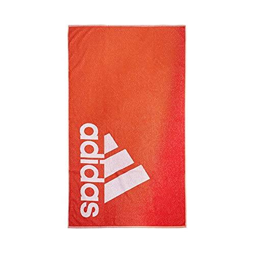 adidas GM5817 TOWEL L Beach towel unisex-adult team orange/white NS