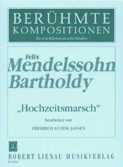 HOCHZEITSMARSCH OP 61/9 (AUS SOMMERNACHTSTRAUM) - arrangiert für zwei Klaviere - Klavier 8händig [Noten/Sheetmusic] Komponist : MENDELSSOHN BARTHOLDY FELIX