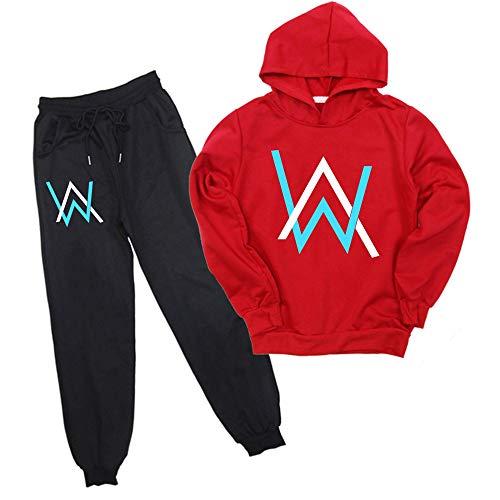 Kinder Alan Walker Hoodies Pants Set 2 Stück Sweatsuits für Kinder Jungen Mädchen