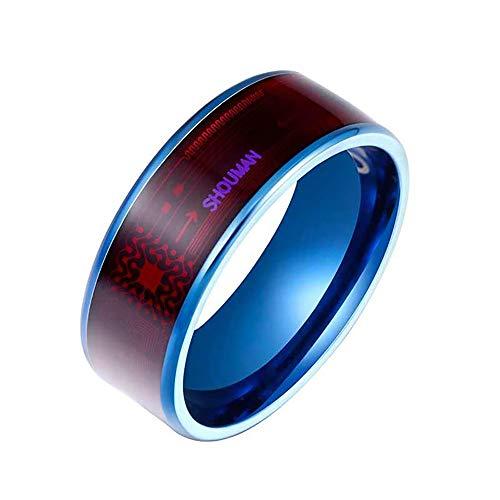 YQK Herrenring NFC Smart-Ring, Smart-Ring mit Paar-Edelstahl-Ring, Anwendung File Transfer, Smartphone entsperren Geeignet für iPhone,A,No. 10