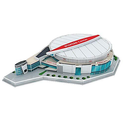 H-O Modelo Basketball 3D Arena Model, Los Angeles Lakers Staples Center NBA Stadium Puzzle, Fan Souvenir Children's Toys (49Pcs, 14.1'× 10.1' × 3')