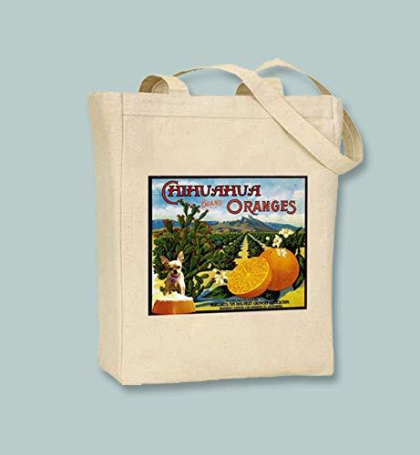 Vintage Chihuahua - Bolsa de lona para frutas, color negro o neutro,...