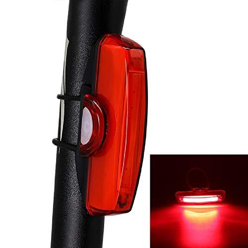 Fiets Staart Licht - SUNWAN USB Oplaadbare Fiets Achterlicht Quick Release Mountainbike Achterlicht Super Heldere LED Fietslampen voor Fietsen Veiligheid 6 Modi Waterdicht Rood