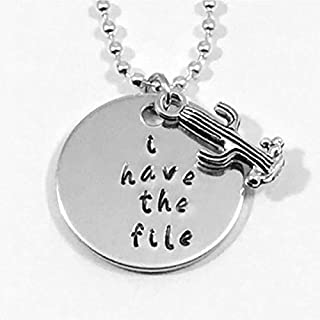 The Good Place Janet Quote Hand Stamped I Have The File Necklace With Cactus Charm