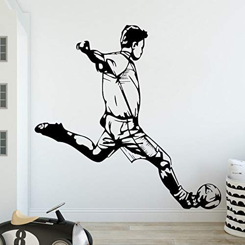 BailongXiao Neue Sport Boy Fußball Vinyl Wandaufkleber Kunst Decals Kinderzimmer Baby Aufkleber Wandaufkleber Dekoration 58x57 cm