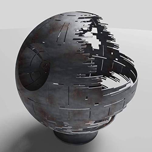 Death Star Firepit (Woodburning), Raw Steel, 30
