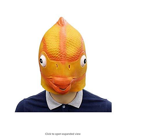 ERTY&OMB Halloween Maske Lustige Goldfisch Latex Maske Fischkopf Maske Cosplay Kostüm Prop Festival Party Supplies Requisiten Maske