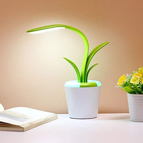 Led Schreibtischlampe, Topfpflanze Leselicht Für Student, Flexible Neck Dimmbare Augenpflege Tischlampe Für Studie Schlafzimmer Büro Weihnachtsgeschenk