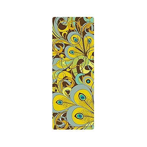 CHENC yujd - Esterilla de yoga ultraligera, plegable, diseño de mandala, 1 mm, ante de goma natural, antideslizante, para pilates, múltiples usos (color: B)